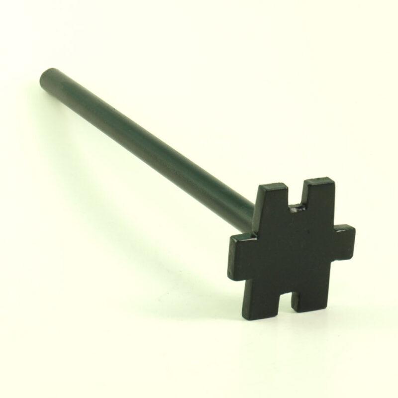 Kertakäyttöinen teräksinen jakoavain rumpuihin muovinen avain